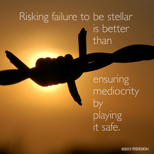 Risking failure to be stellar is better than ensuring mediocrity by playing it safe.