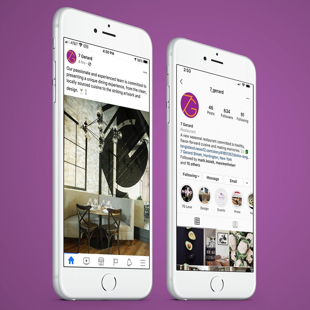 Restaurant social media design